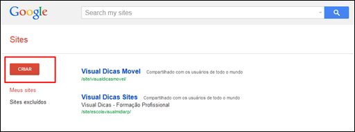 Usando o Google Sites como servidor de arquivos para blogs e sites - Visual Dicas