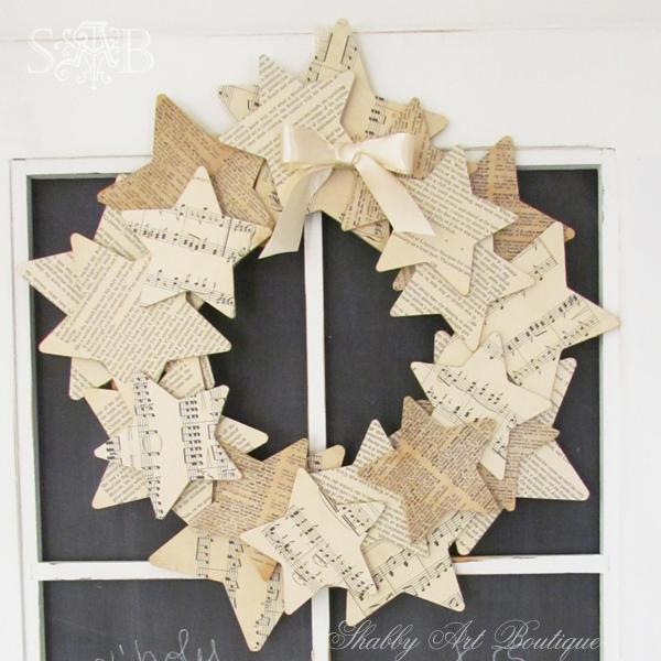Shabby Art Boutique starry wreath 1