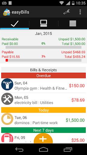 easyBills : 账单提醒