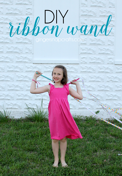DIY Ribbon Wand with Offray Ribbon at GingerSnapCrafts.com #ribbon #DIY #offray