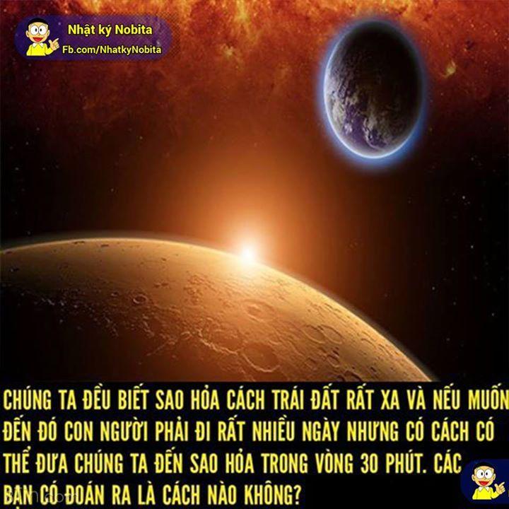 Cách đến Sao Hỏa trong vòng 30 phút: