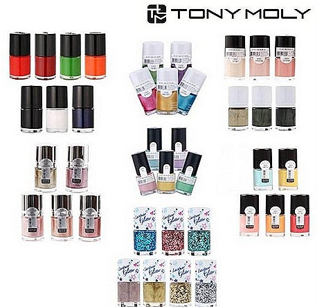 Tony Moly Nail Polish Diamond Nail Lacquer Paint Color Pearl Pastel  micro pearl powder basic colour base top coat Buy 1 Get 1 FREE Bugis Junction Raffles MRT exchange