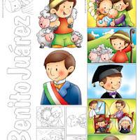 Pintar Dibujos Natalicio Benito Juarez