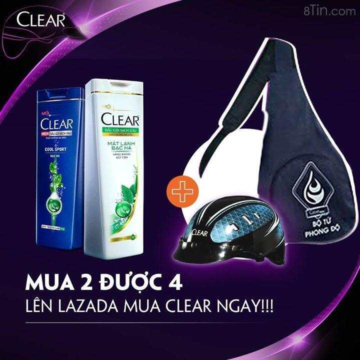 Loa loa loa… Lên Lazada mua 2 được 4 kìa #Clearfans ơi!!!