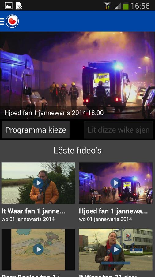 Omrop Fryslân - screenshot