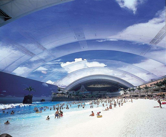 Seagaia Ocean Dome: An Artificial Beach in Japan | Amusing Planet
