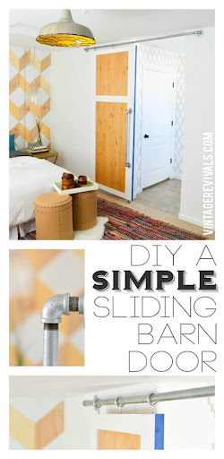DIY Simple Sliding Barn Door @ Vintage Revivals