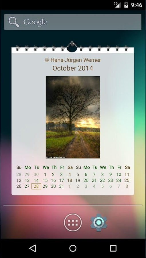 Picture Calendar 2016 / 2017- screenshot
