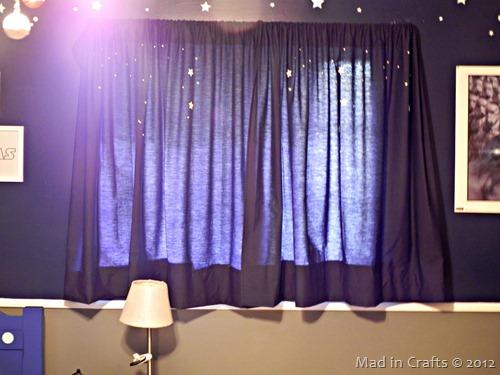 space geek bedroom curtains