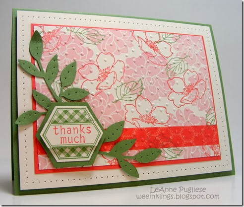LeAnne Pugliese WeeInklings Paper Players 185 Fabulous Florets Six Sided Sampler Stampin Up
