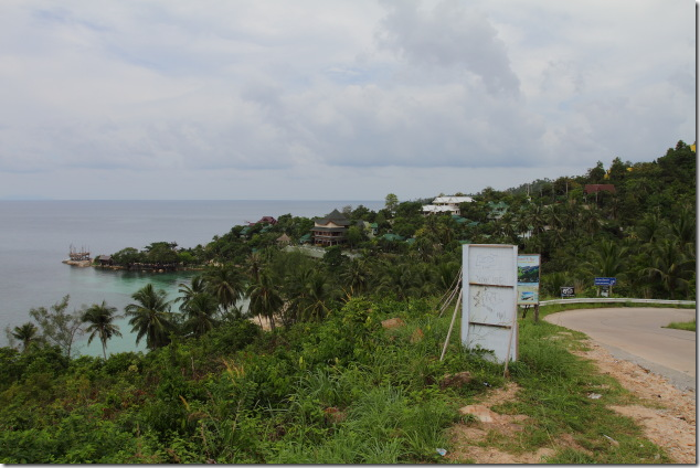 Hill side view while driving in Koh Phangan