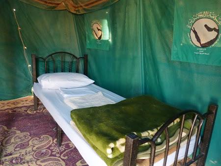 In cortul din Wadi Rum