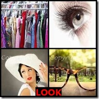 LOOK- 4 Pics 1 Word Answers 3 Letters