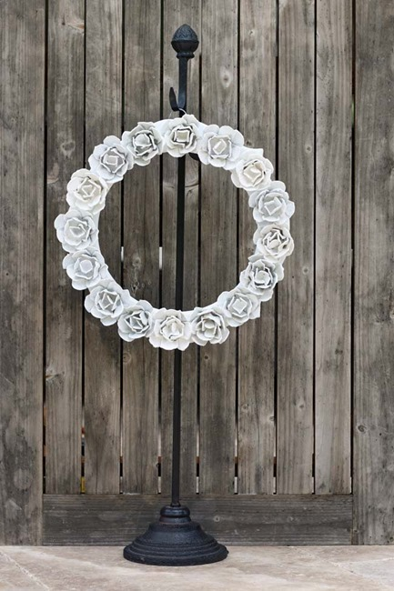 egg carton rose wreath - 1