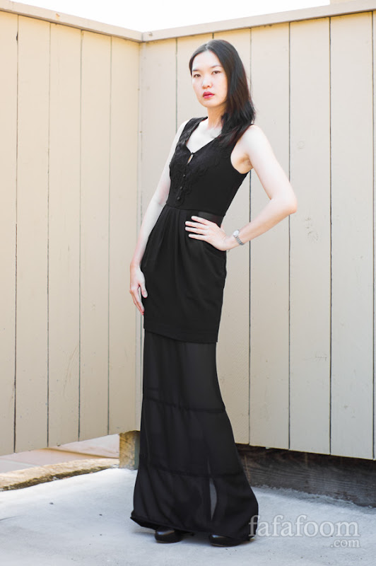 DIY Dress Extension: a Fix for a Too-Short LBD | fafafoom ...