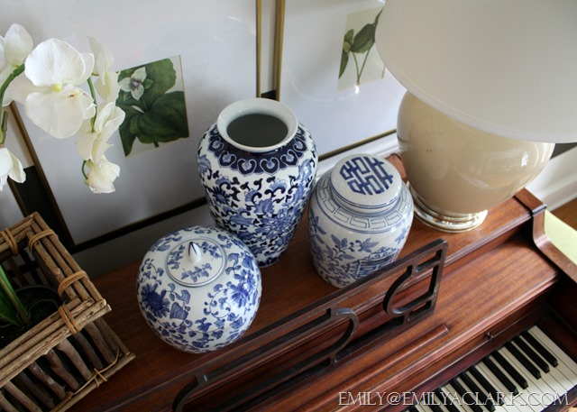 decorating with blue and white accessories