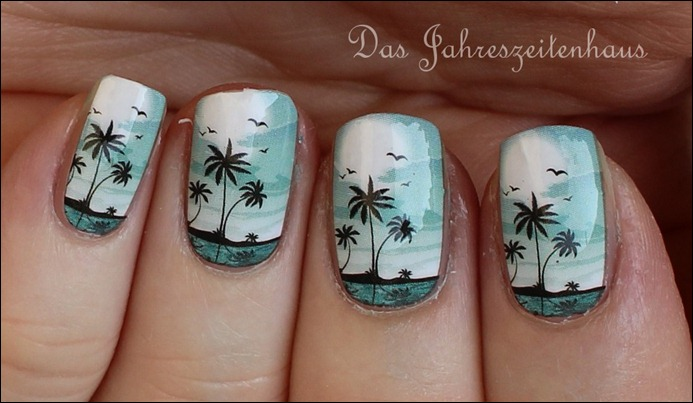 0 P2 Limited Edition LE Pool Side Party Ready fot Sundown Nail Foil Nagelsticker 3