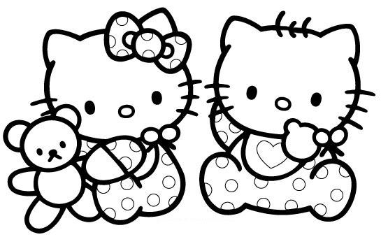 Hello Kitty Dibujos Para Colorear De Hello Kitty