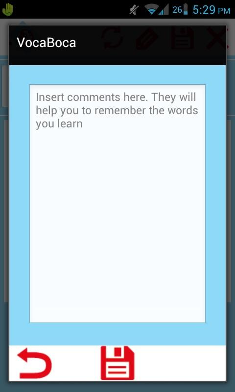 vocaboca - learn vocabulary - screenshot