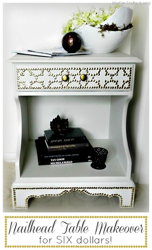 Six Dollar Nailhead Table Makeover