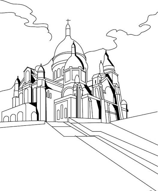 PARIS COLORING PAGE