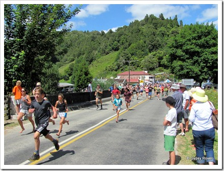 Whangamomona Republic Day. The Gut Buster marathon open to all ages.