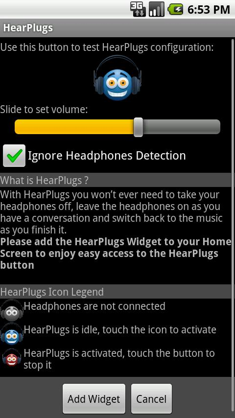 HearPlugs Lite- screenshot