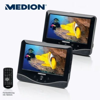 aldi nord 05 27 2013 medion life p72027 md 84106 portable dvd player with two 7 inch displays. Black Bedroom Furniture Sets. Home Design Ideas