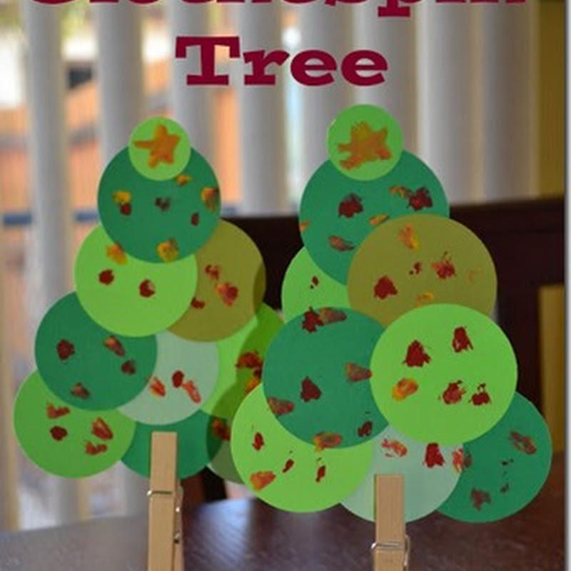 Manualidades Navidad niños árboles