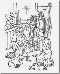 Navidad Nacimiento Para Colorear Dibujos Del Pesebre