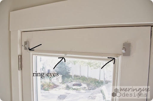 Deep Thoughts By Cynthia Roman Shades For French Doors  Magnetic Curtain Rod