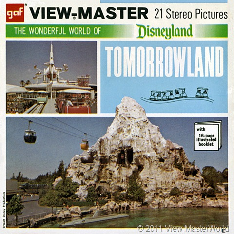 View-Master Tomorrowland (A179), Packet Cover