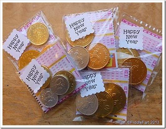 Chocolate Money Favours.