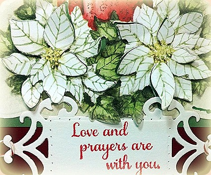 flower soft, Christmas Poinsettia Die Cuts, Sharing Your Sorrow