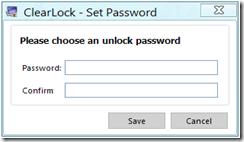 ClearLock - password