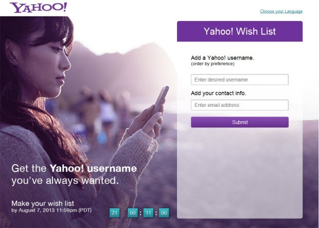 yahoo-username-wishlist