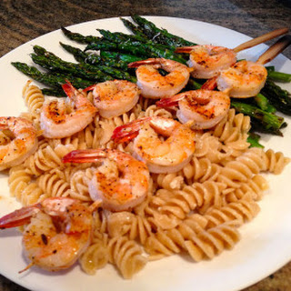 Grilled Cajun Shrimp and Asparagus