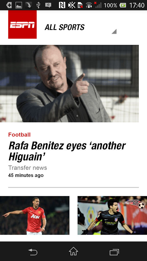 ESPN UK - screenshot