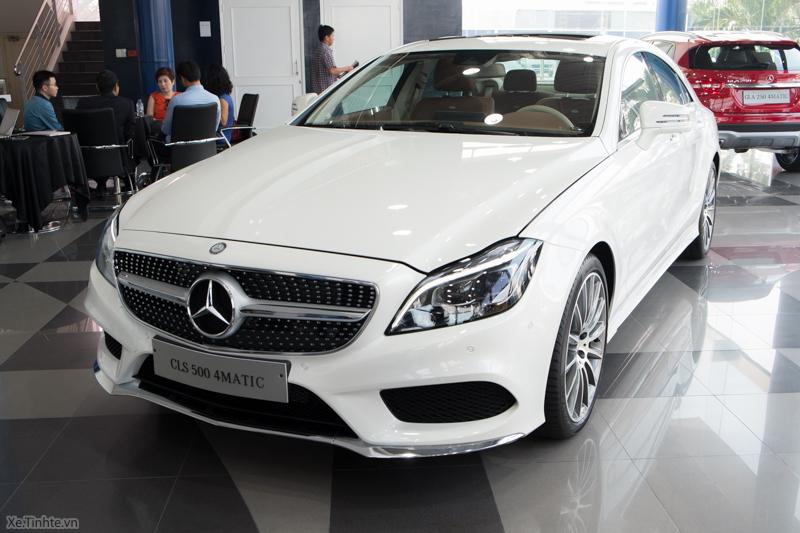 Xe Mercedes Benz CLS500 New Model màu trắng 01