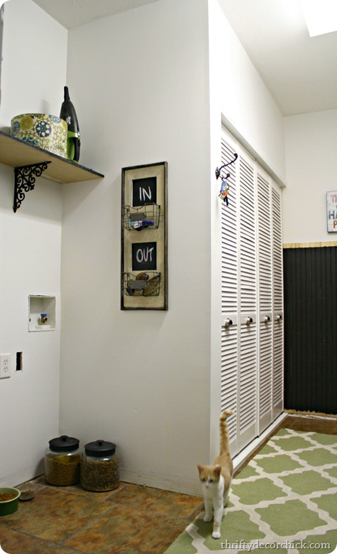 white walls black beadboard