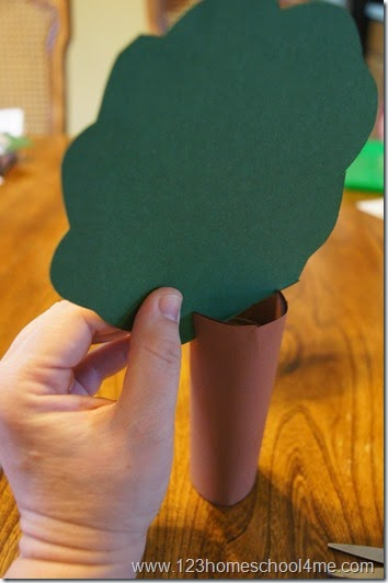 make a slit in the trunk to slide the leaf part in