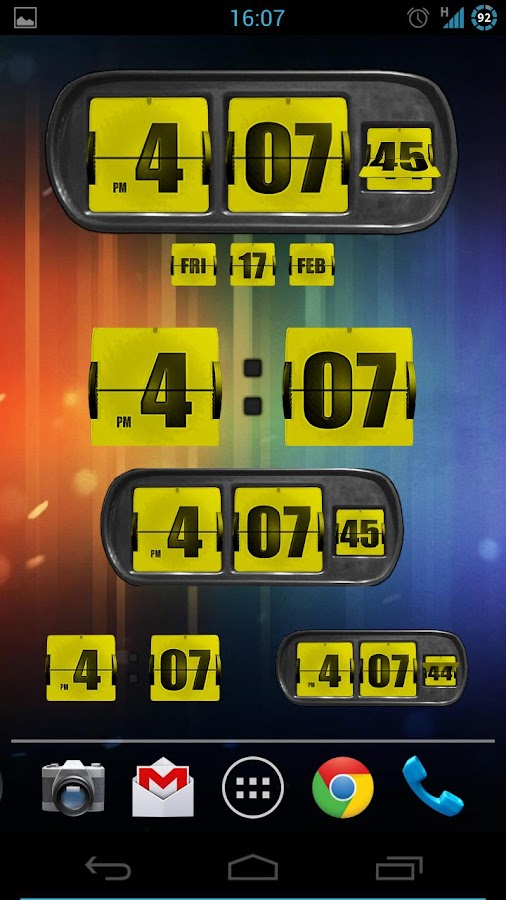 3D Animated Flip Clock PRO - screenshot