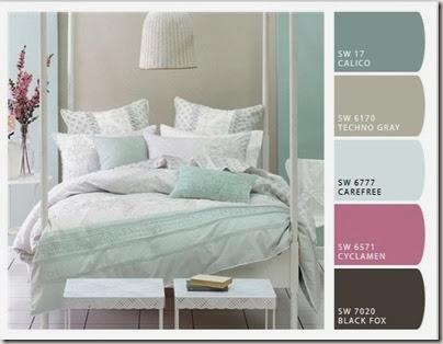 Sypialnia W Kolorze Miety Conchitahome Pl