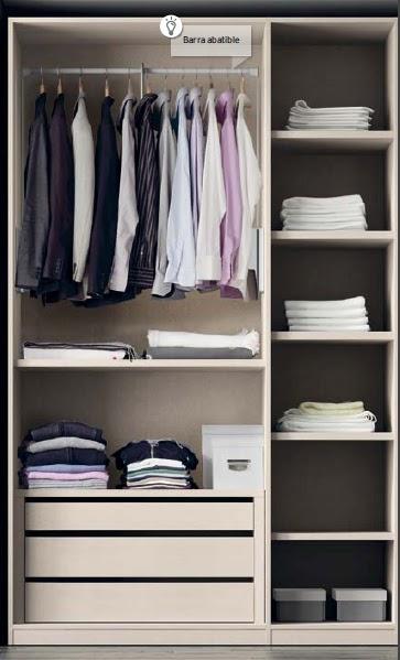 Organizaci n del armario ideas para ordenar la ropa - Armario de la tv ...