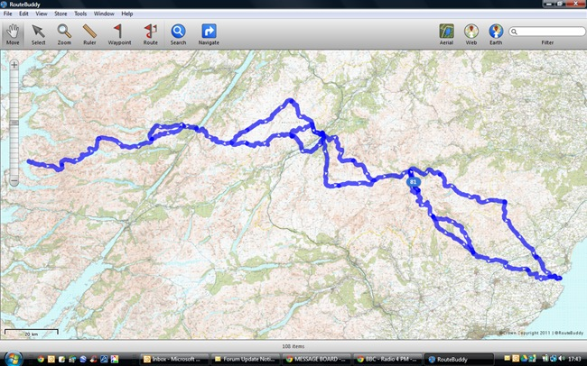 TGOC 2014 MAP OF OUR ROUTE REVA