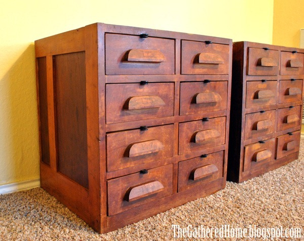 antique hardware store cabinets - Found: Vintage Hardware Store Cabinets - The Gathered Home