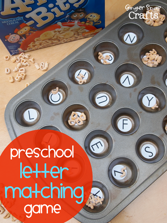 Easy Preschool Letter Game with Alpha-Bits #ad