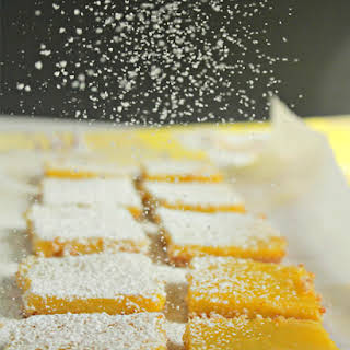 Gluten-Free Lemon Bars with an Almond Crust.