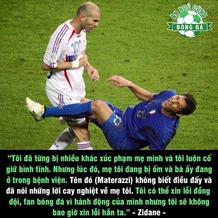 Zidane chia sẻ về cú húc đầu huyền thoại của mình với Materazzi ...