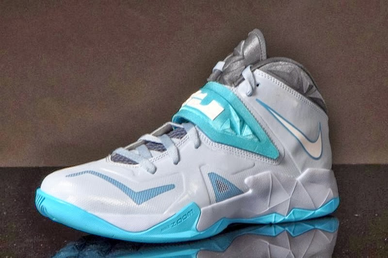 Lebron Soldiers 7 Light Blue And Gray  e90f9a269